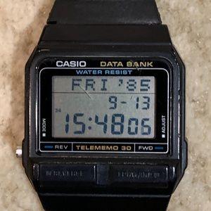 Vintage Casio Data Bank Watch.